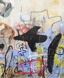 TOBIMANN   SHINE ON YOU     ACRYL, ÖL UND ÖLKREIDE AUF LEINWAND   100 x 120 CM   2015