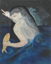 MARIA WINDSCHÜTTEL   OHNE TITEL   2016   ACRYL, PASTELS AUF CANVAS  50 x 40 CM