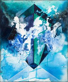 Tanja Hehmann  Janus   2014 Acryl und Öl auf Leinwand 60 x 50 cm