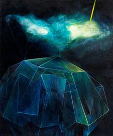 Tanja Hehmann  Nimbatus (Enklave VII)   2016 Acryl und Öl auf Leinwand 60 x 50 cm