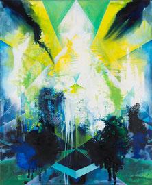 Tanja Hehmann  Wahrmacher (Enklave II)   2014 Acryl und Öl auf Leinwand 170 x 140  cm