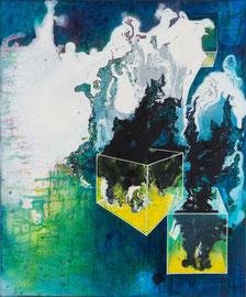 Tanja Hehmann  Eskapade  2014 Acryl und Öl auf Leinwand 60 x 50  cm