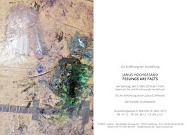 AUSSTELLUNGSEINLADUNG FEELINGS ARE FACTS JANUS HOCHGESAND 7TÜREN GALERIE HAMBURG