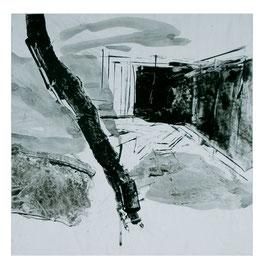Terrasse, 50/50cm, Lack auf Papier auf Aluminium, 2007