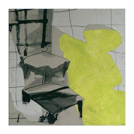 Raumbild, 100/100cm, Mischtecknik Papier auf Leinwand, 2007