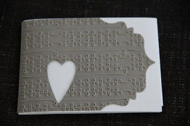 faltkarte, blanko, format ca. 15 x 7,5 cm, inkl. innenblatt ohne couvert, fr. 7.50