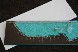 karte, blanko, format 11,5 x 29 cm, inkl. innenblatt und passendem couvert, fr. 11.00