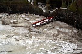 Auf Eis gelaufen in der Speicherstadt