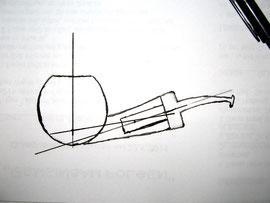 Skizzieren des Entwurfs.