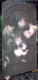 The headstone of Sebastian Hoover (1789-1839) who served in the Virginia Regiment in the War of 1812.