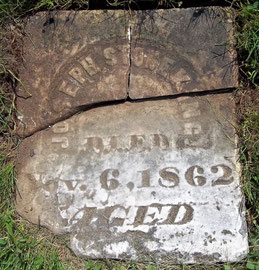Joseph Stoneking was the first person buried in this cemetery in 1862.