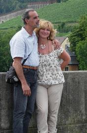 Con mio marito Franco