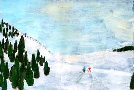 スキーの二人