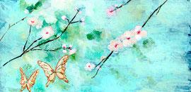 梅と胡蝶(『抒情歌』/川端康成)