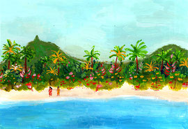 "Tahiti in an artist's dream (""The Moon and Sixpence"" by S. Maugham)"