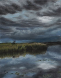 """Sturm am See"", pastel on pastelmat, 24 x 30 cm, reference photo Stefan M. Weis"