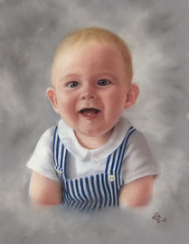 """Maximilian"" (2018), pastel on pastelmat,  30 x 40 cm, commission"