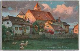 Deutschordenskommende in Lengmoos, Gemeinde Ritten. Entwurf: R(udolf). A(lfred). Höger (1877-1930); Impressum: Joh(ann). F(ilibert). Amonn, Bozen 1908.  Inv.-Nr. vu914fat00007