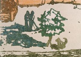 O.T., 1998, Linolschnitt, 100 x 140 cm