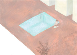 「プールサイド」