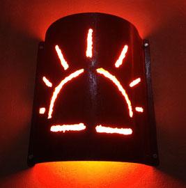 Incorporation de LED néon flexible dans applique murale acier-Istres-