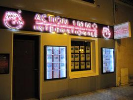 Rétro-éclairage d'enseigne et portes affiches-Saint-Martin-De-Crau-