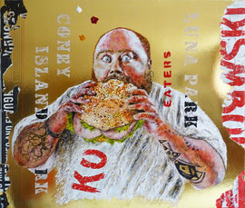 Competitive eaters  -  69 x 80  -  2019