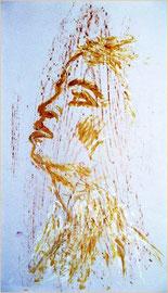 Frottage et visage  -  30 x 41  -  1999