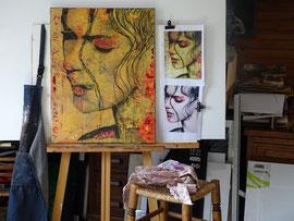 """Atelier  Tableau  """" Irman spirale"""""""