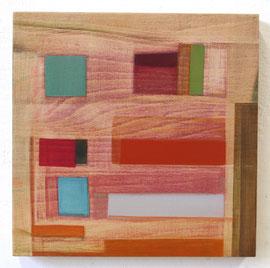 Anne Schreiber 'ohne Titel' (M-95) 2018 25x25 cm Öl + Alkydharz auf Holz