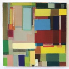Anne Schreiber 'ohne Titel' (M-66_2) 2016-2018 90x90 cm Öl+Alkydharz auf Cotton