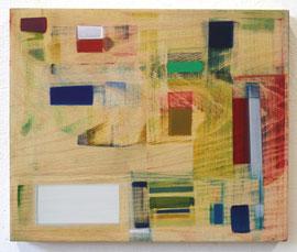 Anne Schreiber 'ohne Titel' (A-104) 2018 25x30 cm Öl+Alkydharz auf Holz