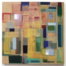 Anne Schreiber 'Paradoxe Intervention II' (M-90) 2018_60x60 cm, Öl+Alkydharz auf Holz