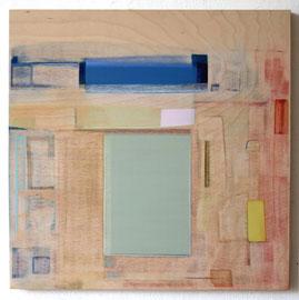 Anne Schreiber 'Bleichgesicht' (M-91) 2018_60x60 cm, Öl+Alkydharz auf Holz