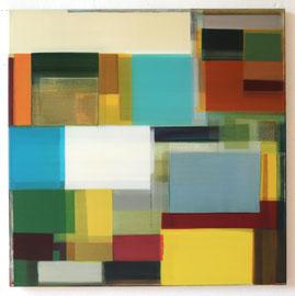 Anne Schreiber 'ohne Titel' (M-72) 2016-2018 90x90 cm Öl+Alkydharz auf Cotton
