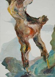 Zweig, 50x70, Öl auf Leinwand, 2014