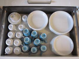 Viel Porzellan für seltenes Spülen