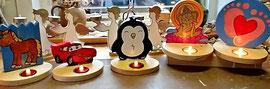 Houten Sfeerlicht Pinguin, uniek, theelichthouder speciaal, bijzondere sfeerlichten, uitgevallen theelichthouder_2