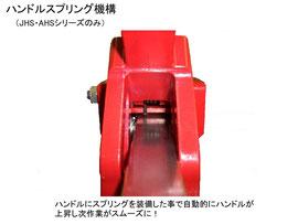 ジェットターボタイル切断機 JHS-650CLE ハンドルスプリング機構