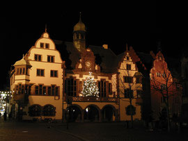 Neues Rathaus bei Nacht