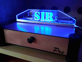 "Tube ONE mit Plexiglasgravur ""SIB"" Simple is better - H. Dietrich, Bremen -"