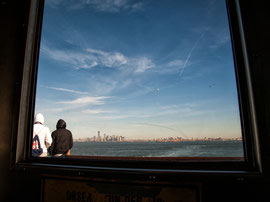 New York - Staten Island Ferry Blick auf Manhattan