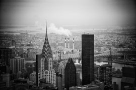 New York - Blick vom Empire State Building auf das Chrysler Building