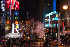 New York - Am Times Square bei Nacht