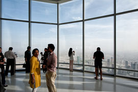 Dubai - Besucherplattform des Burj Khalifa