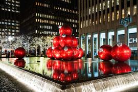 New York - Bei Nacht weihnachtlich geschmückt