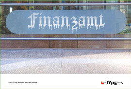 LinoType - Typomotiv Finanzamt