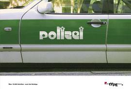 LinoType - Typomotiv Polizei