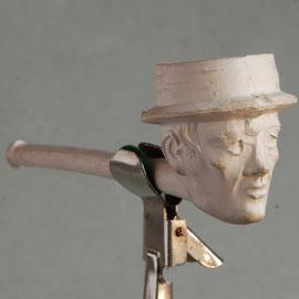Breeedrand hoed shag van Goedewaagen, ca 1900-1940