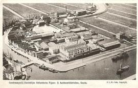 Luchtfoto KLM Aerocarto, 1932 ; Panden Fa Goedewaagen, Gouda